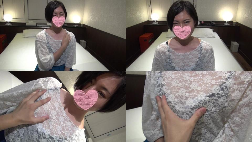 FC2 PPV 1007318 First shot 完全 full appearance 162 162/47 slender beauty girl 黒 black hair short cute