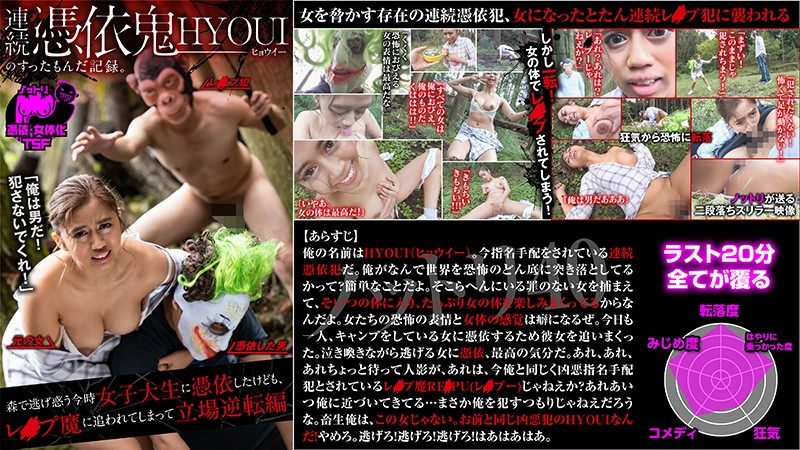 NTTR-040 Hyoui Is Possessed By A Horny Devil – A College Girl Runs Away Into The Woods, But When